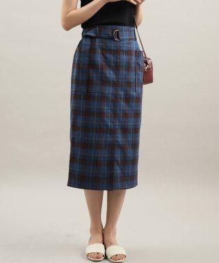 ベルト付きフロントスリットタイトスカート