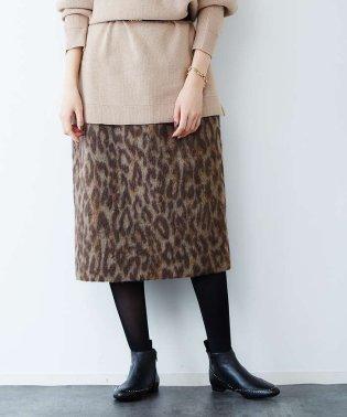 【MICA&DEAL(マイカ&ディール)】レオパードタイトスカート