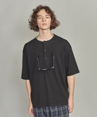 BY リネン ヘンリーネック 樽型 Tシャツ
