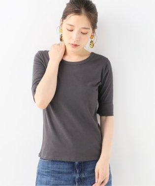 ハイツイストコットン5分袖Tシャツ