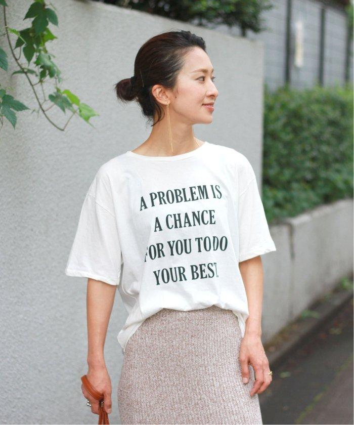 【+81 BRANCA/プラスハチイチブランカ】TO DO YOUR BEST フォトTシャツ◆