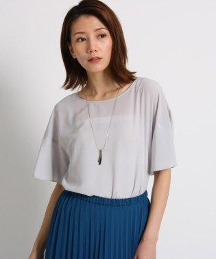 【洗える】◆デシンフレアスリーブシャツ