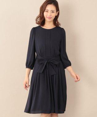 【ウォッシャブル】バックサテンジョーゼットドレス