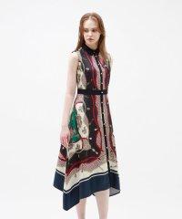スカーフ フレア ドレス