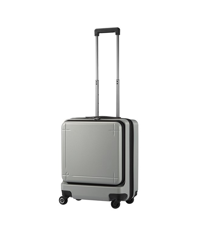 (ProtecA/プロテカ)エース プロテカ マックスパス3 スーツケース 機内持ち込み Sサイズ 40L ACE 02961 ストッパー フロントオープン/ユニセックス シルバー