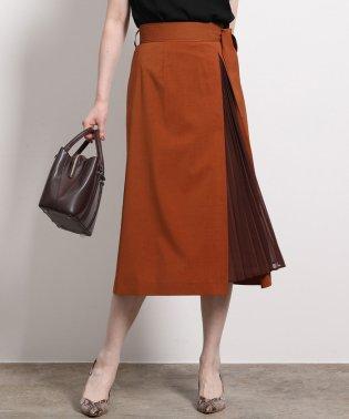 ポリキュプラメランジプリーツスカート