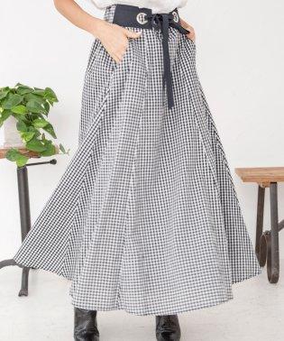 ギンガムチェックロングスカート