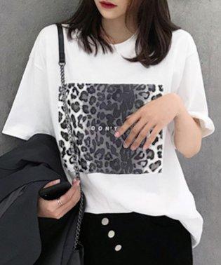 ヒョウ柄BIGシルエットTシャツ
