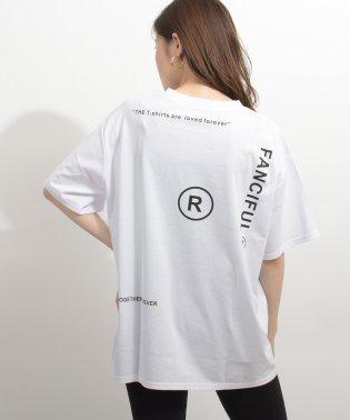 英字ロゴオーバーサイズTシャツ
