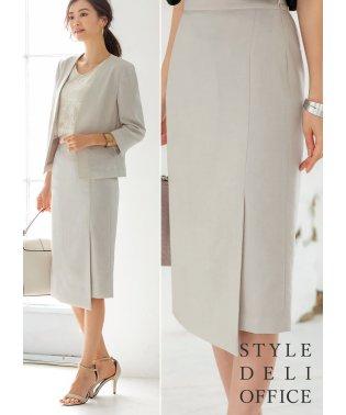 【SD OFFICE】サラサラ麻微混スカート/Made in JAPAN