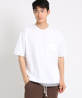 【WEB限定】裾スピンドル配色ステッチTシャツ