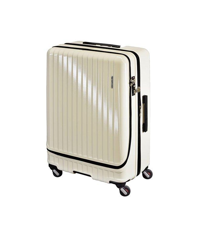 (FREQUENTER/フリクエンター)フリクエンター マーリエ スーツケース フロントオープン 拡張 86L/98L Lサイズ USB Malie 1−280/ユニセックス アイボリー
