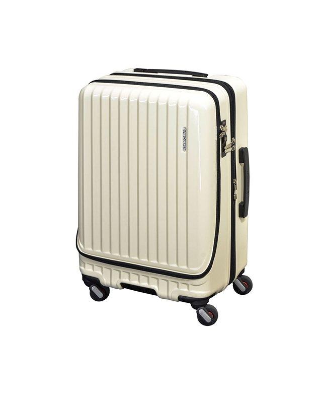 (FREQUENTER/フリクエンター)フリクエンター マーリエ スーツケース Mサイズ フロントオープン 拡張 静音 USB Malie 55L~66L 1−281/ユニセックス アイボリー