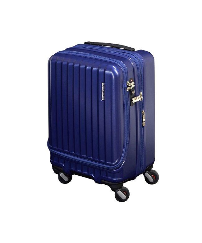 (FREQUENTER/フリクエンター)フリクエンター マーリエ スーツケース 機内持ち込み Sサイズ フロントオープン ポケット 拡張 静音 軽量 34L 1−282/ユニセックス ネイビー