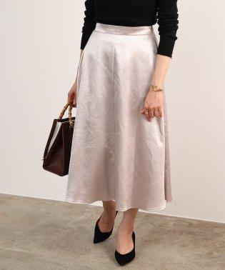 【WEB限定】クレーターサテンスカート