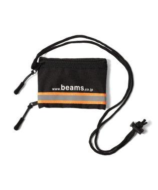 BEAMS / リフレクター ライン ネック ID ポーチ