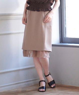 スソレースリボン付スカート