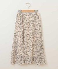 [140-150]花柄プリントマーメイドスカート