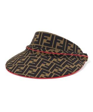 FXQ630 A6NQ F0HEZ W VISOR HEADBAND FFロゴ サンバイザー 帽子 TOBACCO-STRAWBERRY レディース