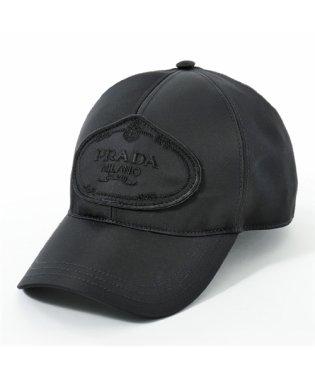 2HC143 820 F0002 ナイロン ベースボールキャップ 帽子 ロゴ刺繍 NERO ユニセックス メンズ