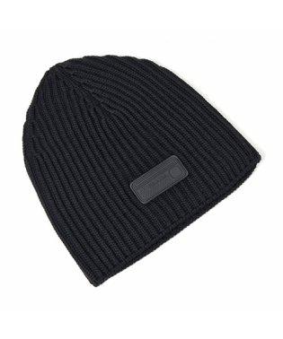 UMD372 IZH F0002 ウール ニット帽 ニットキャップ リブ 帽子 ビーニー NERO メンズ