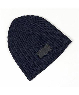 UMD372 IZH F0008 ウール ニット帽 ニットキャップ リブ 帽子 ビーニー BLEU メンズ