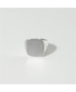 R74HRNA 02 Cushion Satin シルバー925 クッションカット リング 指輪 SILVER メンズ