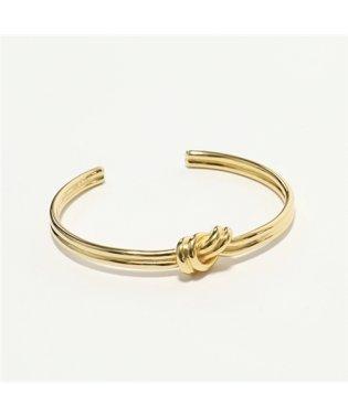 46P446BRA.35OR Double Bracelet Knot ノット ダブル ブレスレット ブラス バングル Gold レディース