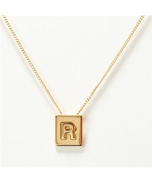 46N0R6BRA.35OR R Necklace アルファベット ネックレス ブラス イニシャル Gold レディース