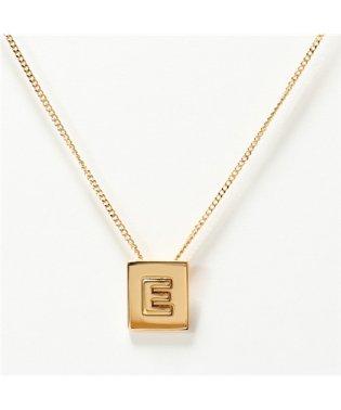 46N0E6BRA.35OR E Necklace アルファベット ネックレス ブラス イニシャル Gold レディース