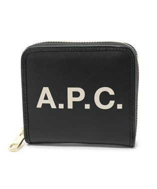 APC PUAAJ F63227 compact morgane LZZ ラウンドファスナー ミニ財布 二つ折り NOIR ユニセックス レディース