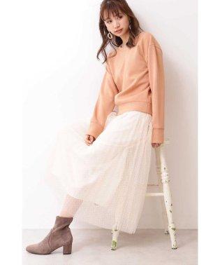 ◆ドットチュールプリーツスカート