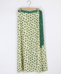 [Aga] ラップ風 ペイズリー ロングスカート