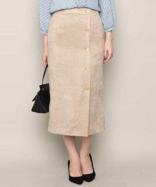 【洗える】フェイクスウェードタイトスカート