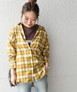 Khaju:チェックオーバーサイズシャツ