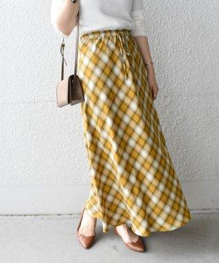 Khaju:チェックセミフレアスカート