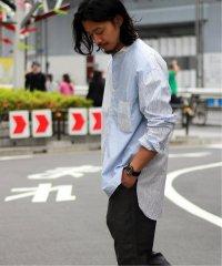 H.UNIT 別注 / エイチユニット : クレイジーブルースタンドシャツ