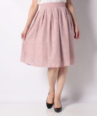 ジャガード素材フレアスカート