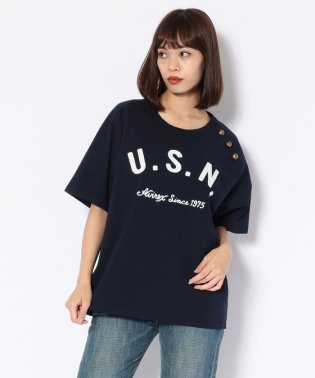 U.S. NAVY ボタン ティーシャツ/BUTTON T-SHIRT