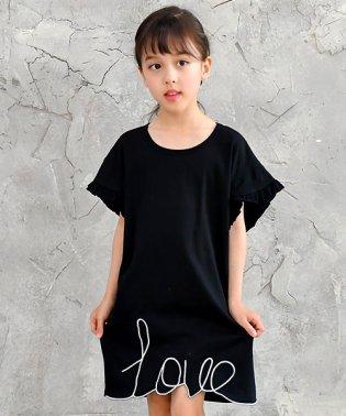 LOVE刺繍ワンピ