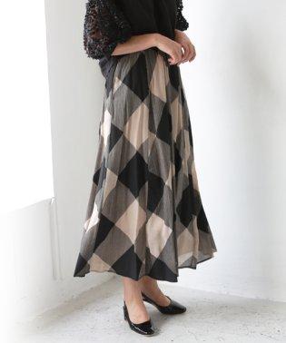 楊柳デザインロングスカート