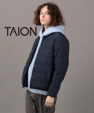 TAION×SHIPS JET BLUE: 【Begin1月号 P21掲載】別注 ステッチレス リバーシブル クルーネック ダウンジャケット