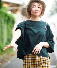 WEGO/ショルダーリングジップTシャツ