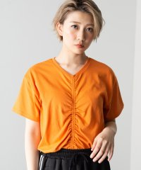 WEGO/ドロストシャーリングTシャツ