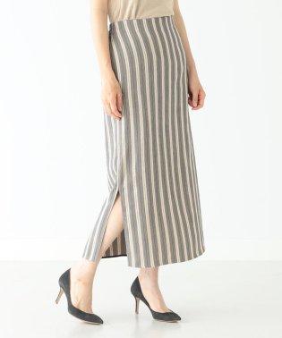 Demi-Luxe BEAMS / ストライプ スリットタイトスカート