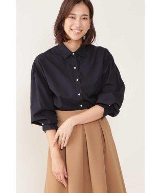 ◆[ウォッシャブル]ボリュームスリーブシャツ