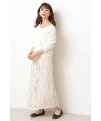 |美人百花 10月号掲載|◆ロングランダムプリーツスカート