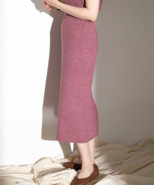 メランジニットスカート