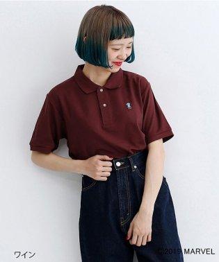 【MARVEL/マーベル】ワンポイント刺繍ポロシャツ