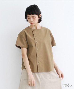 【IKYU】アシンメトリーボタンシャツ